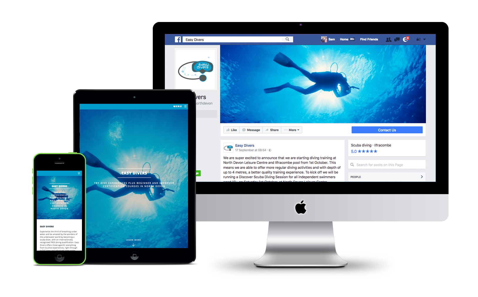 Create a website using your facebook page